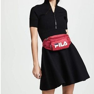Fila women's red white and navy fanny pack